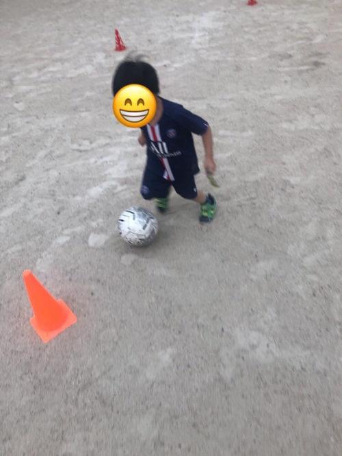 サッカードリブル練習2