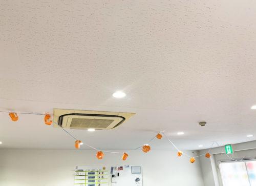 紙コップと画用紙で作った手作りかぼちゃ