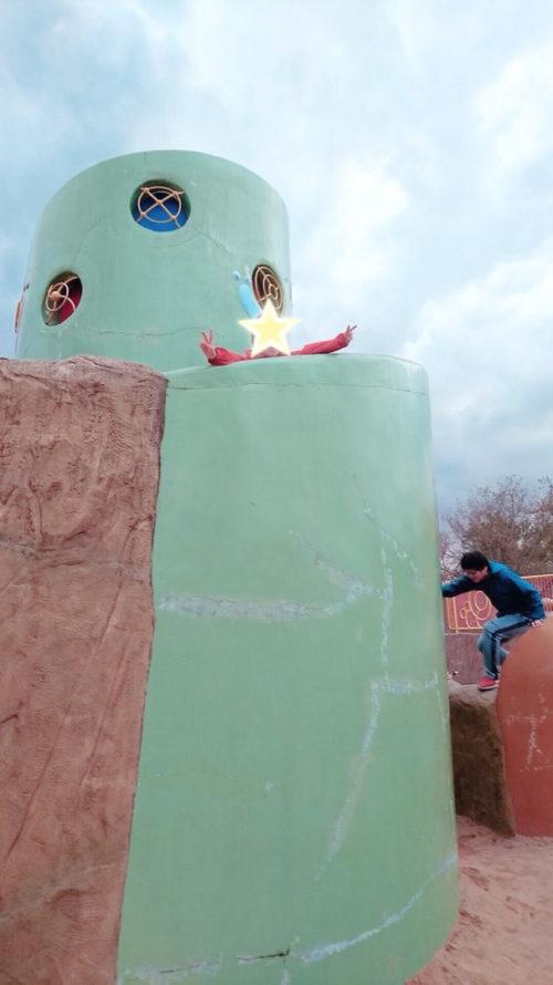 久宝寺緑地公園で遊ぶ子どもたち