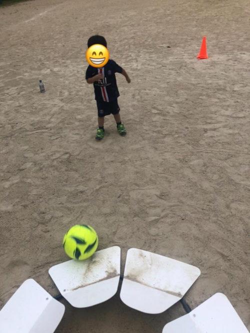 フットゴルフ練習
