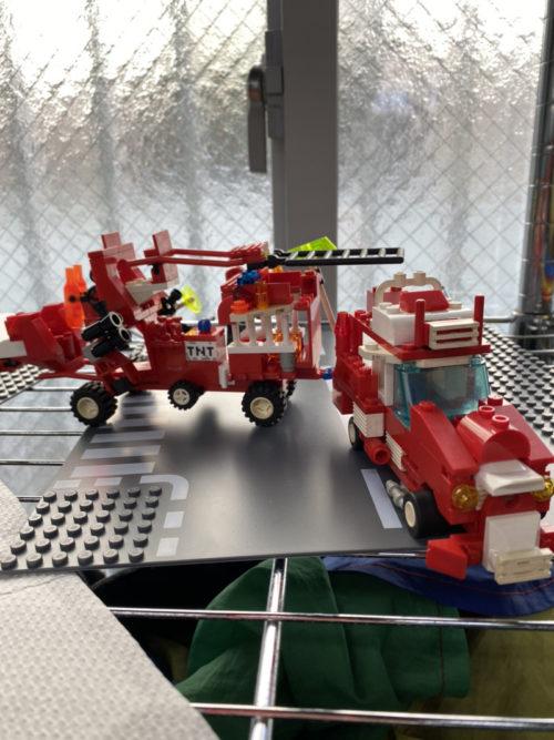 レゴで作った消防車