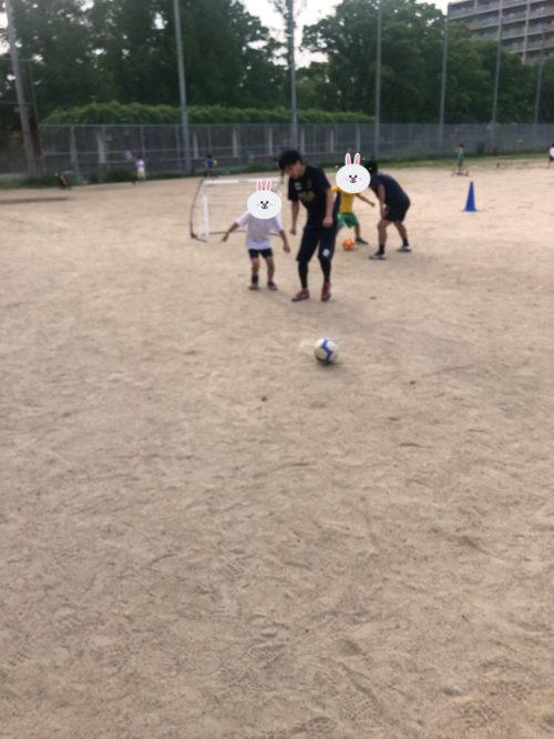 サッカーのミニゲーム